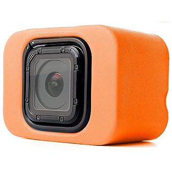 MadridGadgetStore® Flotador Naranja Carcasa Funda Flotante Floaty Para Cámara Videocámara Go Pro GoPro HD Hero5 Hero4 Hero 5 4 Session Deportes de ...