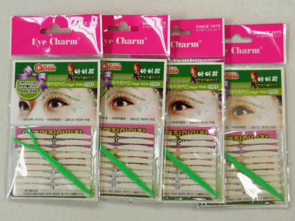 Eye Charm Magic Wide - Double Sided Eyelid Tape X 4 Packs by Eye Charm