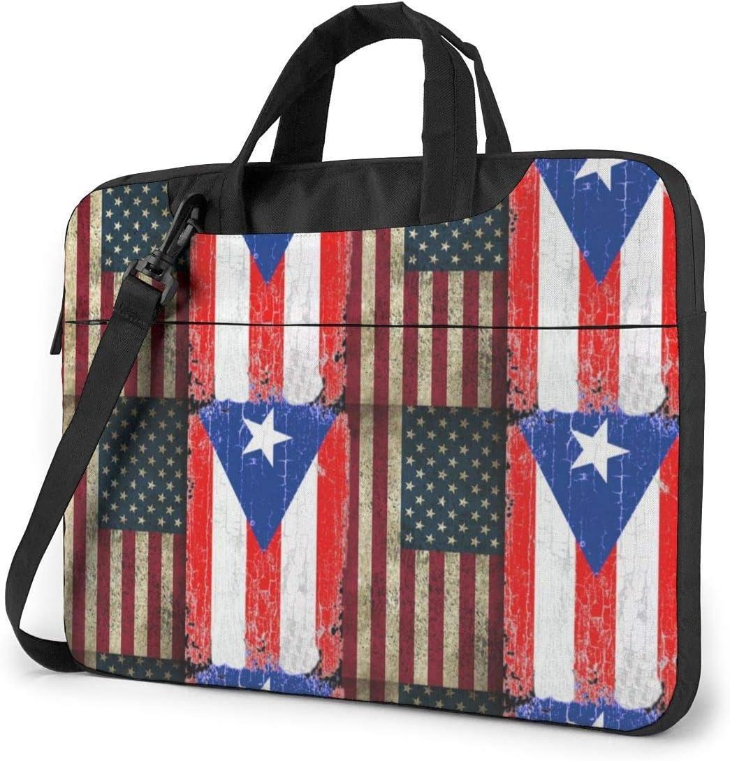 Bandera de Puerto Rico de EE. UU. Bolso para computadora portátil a Prueba de terremotos Maletín Bolso para Mensajero de Hombro Satchel Tablet Bussiness Bolso de Mano: Amazon.es: Electrónica