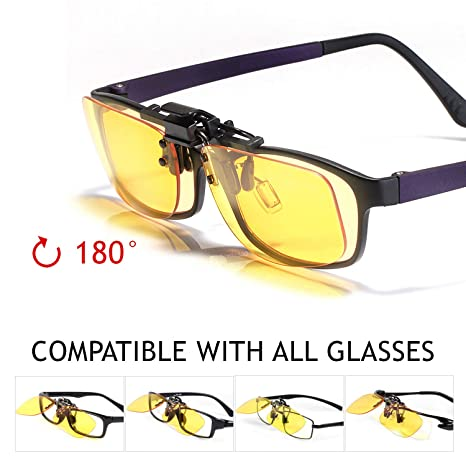 17c392edae4c KLIM OTG Glasses Clip on Eyeglass Eyewear to Block Blue Light NEW 2019  Version- High Protection for ...