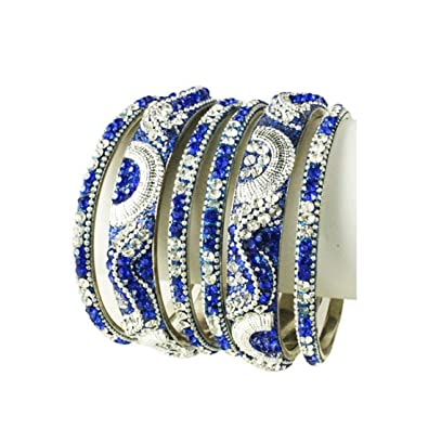 8425ab901f4 Image Unavailable. Image not available for. Color: Sparkly Crystal  Rhinestone Bling Bangle Bracelet Set ...