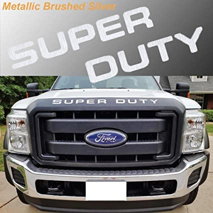 Ford F250 F350 F450 Super Duty Mirror Chrome Front Grille Insert Letters Decal