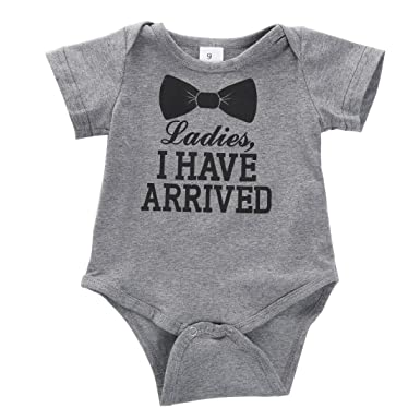 b2decb97c Amazon.com  Hotone Newborn Baby Boys Girls Bowtie Short Sleeve ...