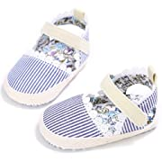 CoKate Baby Toddler Boy Girls Bow Knot Sandals First Walker Shoes (13cm 12~18Moths, Strips)
