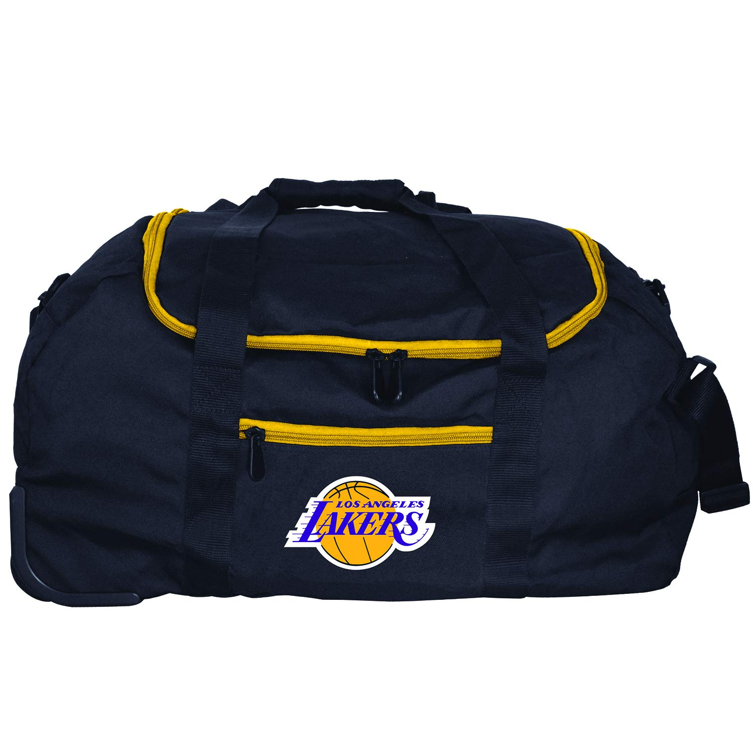 NBA Los Angeles Lakers Mini Collapsible Duffel, 22-inches, Black
