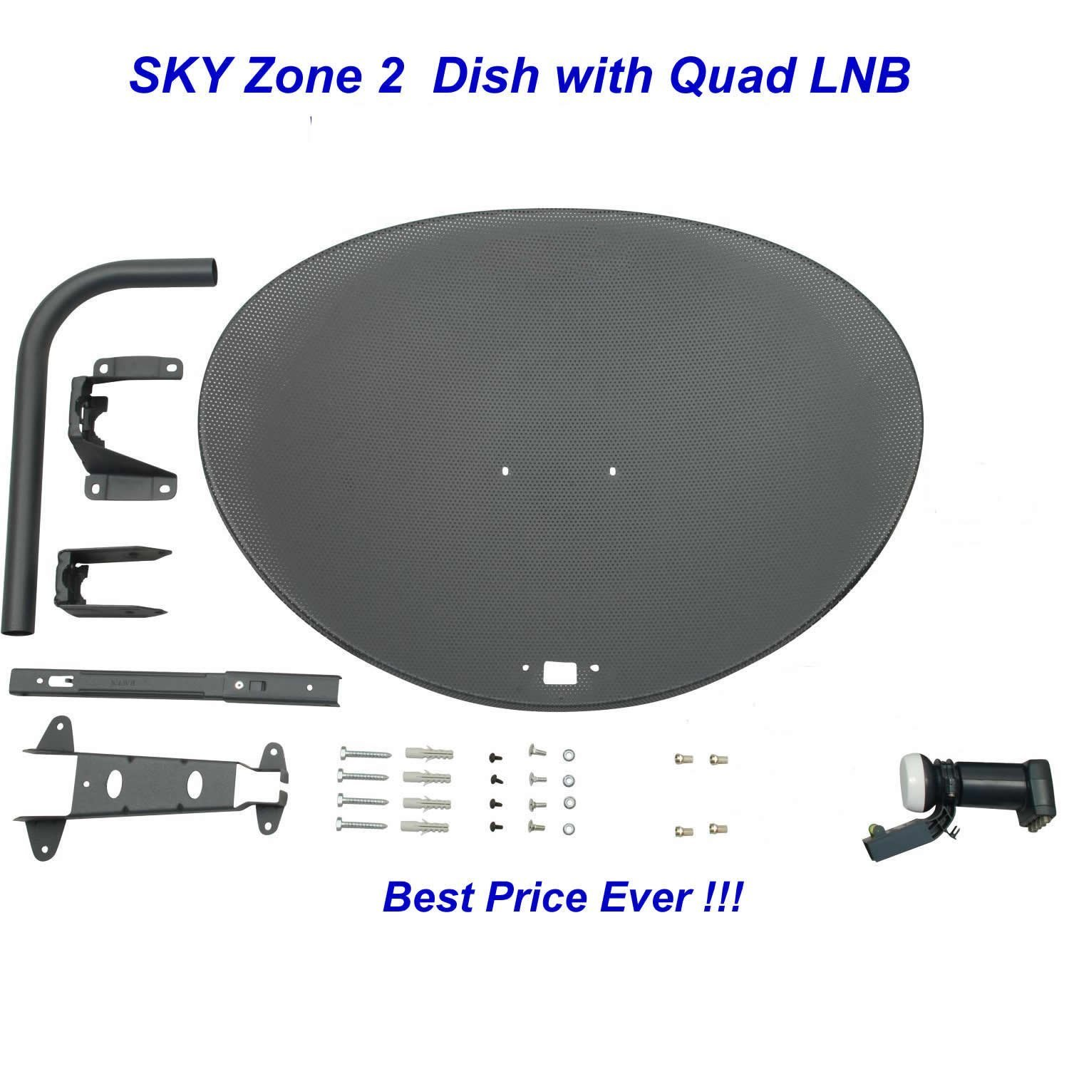 Systemsat Zone 2 Satellite Dish Quad Lnb For Sky Work Hd Wiring Diagram Free Picture Electronics