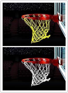 2 redes de baloncesto que brillan en la oscuridad, red de ...