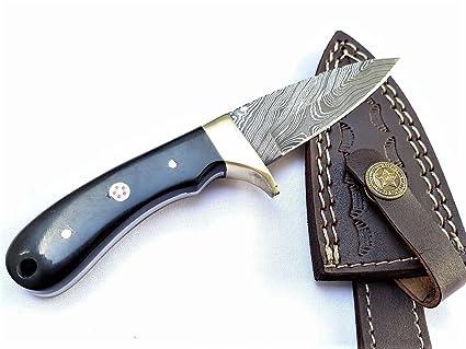 Amazon.com: Falcon Cuchillas Damasco acero FBBH-33 Cuchillo ...