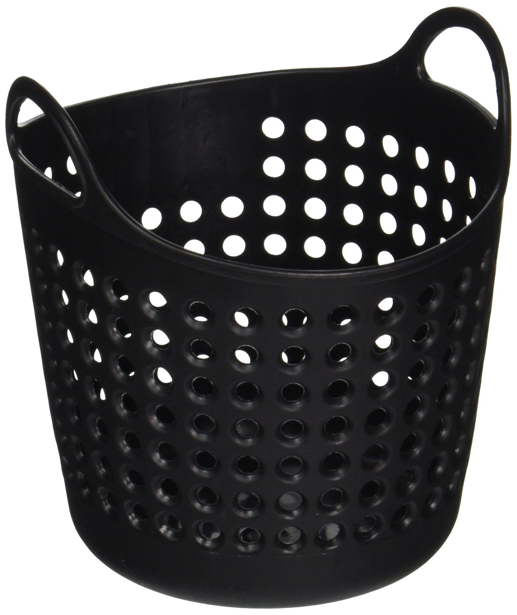 StealStreet SS-KD-1616-BLACK Mini Laundry Basket Office Supply Organizer, 4.25'', Black