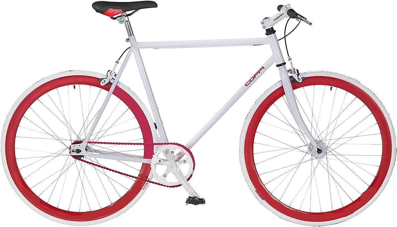 F. lli masciaghi Bicicleta Fixed Fausto Coppi Blanco: Amazon.es ...