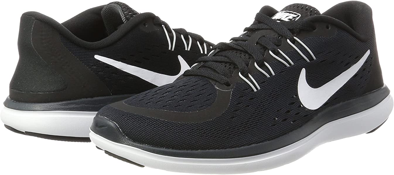 9e064c477f NIKE Womens Flex 2017 RN Running Shoe Black/White/Anthracite/Wolf Grey 6.  Back. Double-tap to zoom