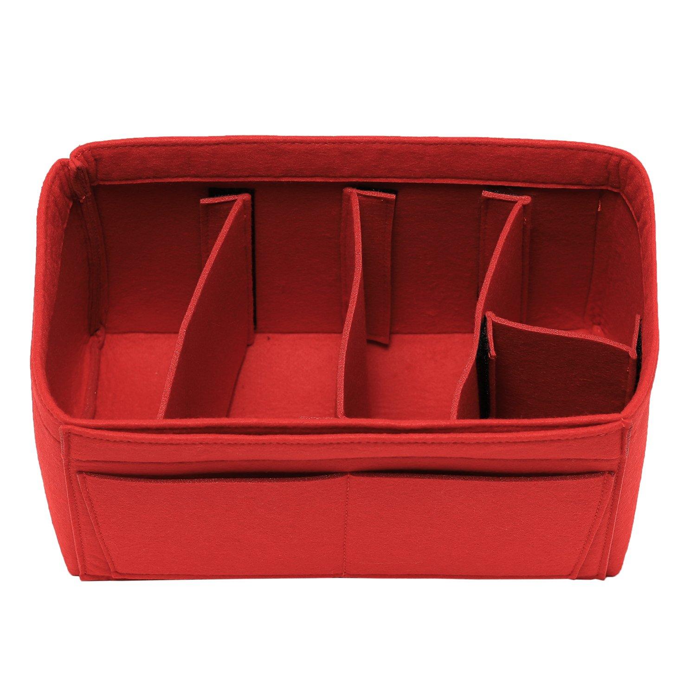 [New Style] Luxury Felt Purse Organizer Bag Organizer, Handbag Tote Insert Organizer for Speedy Neverfull, 3 Sizes