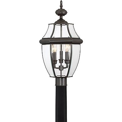 amazon com quoizel ny9043z newbury 3 light outdoor lantern medici