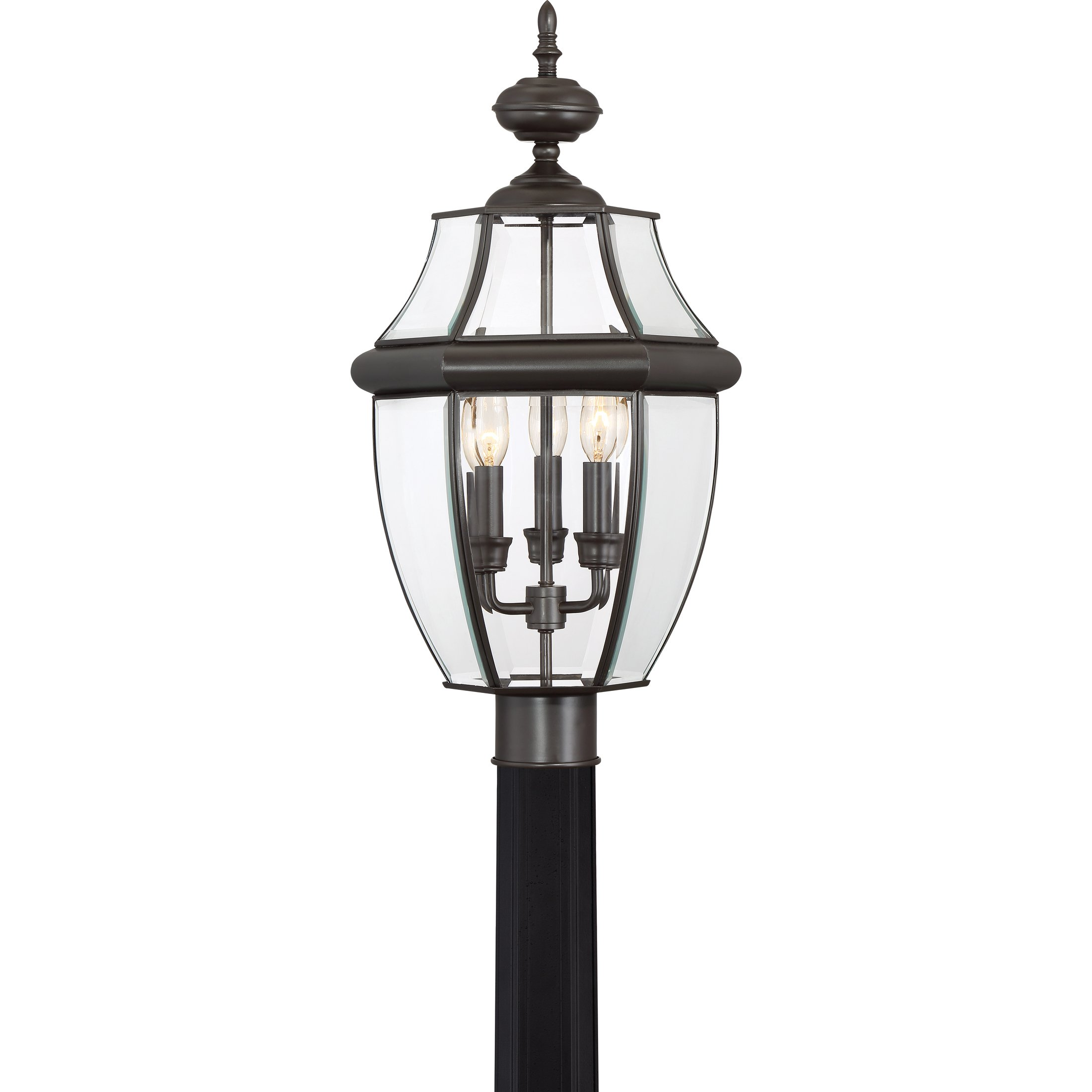 Quoizel NY9043Z Newbury 3-Light Outdoor Post Lantern, Medici Bronze by Quoizel