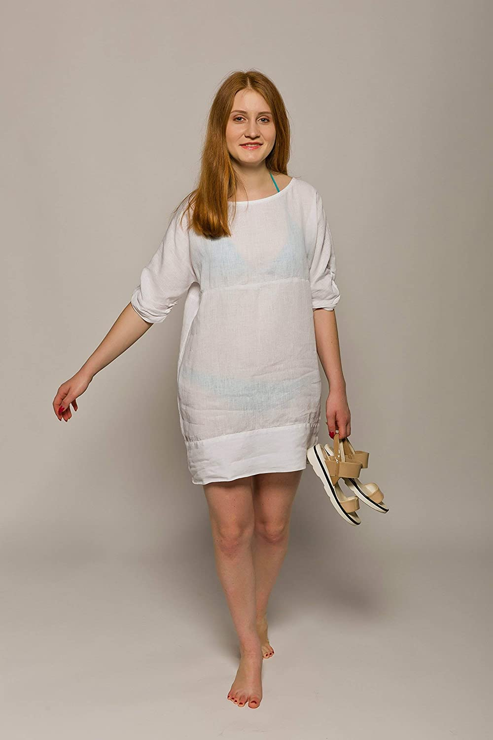 eff5f86a8a This beautiful 100% linen loosely fit beach tunic dress will become an  essential part of your wardrobe. Classic yet trendy