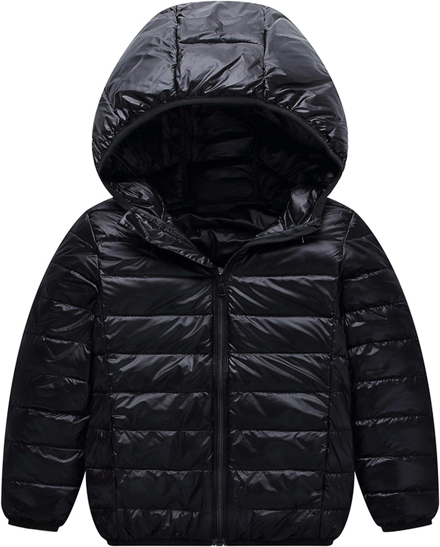 YANGXING Girls Long Down Coat Kids Outwear Winter Warm Hoodie Down Jacket Coat Little//Big Kids