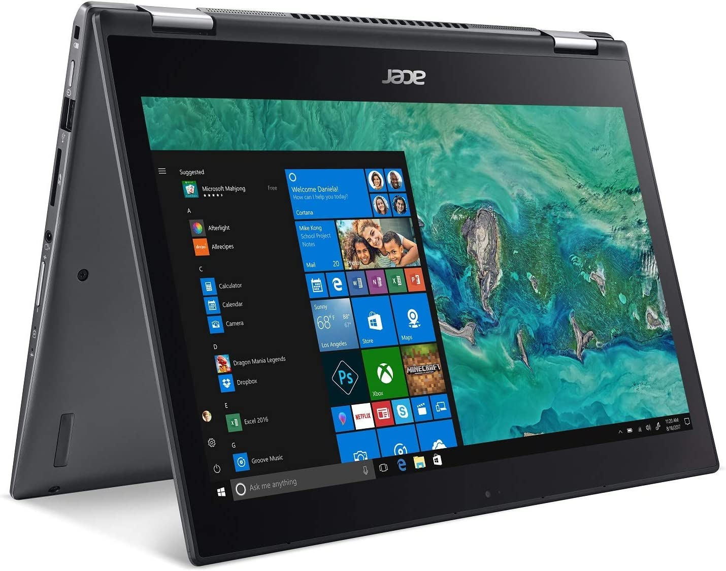 "Acer Spin 5 SP513-53N-53Y5, Convertible Laptop, 2-in-1, 13.3"" Full HD Touch, 8th Gen Intel Core i5-8265U, Alexa Built-in, 8GB DDR4, 256GB PCIe SSD, Windows 10 (Renewed)"