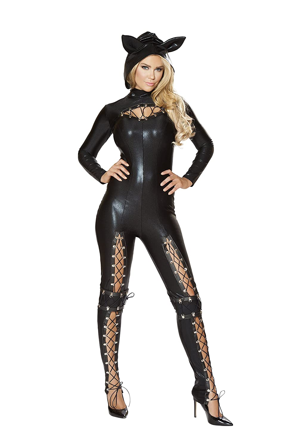 Forplay Costumes Fierce Feline Ears Mas Jumpsuit Belt Gloves