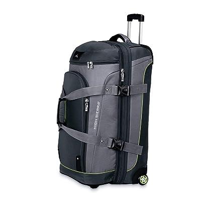 High Sierra At3 Drop Bottom Upright Wheeled Rolling Duffel Bag