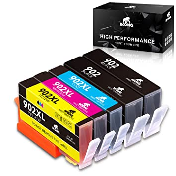 5 Pack 902XL Ink Cartridge For HP 902 XL Officejet Pro 6960 6968 6970 6975 6978