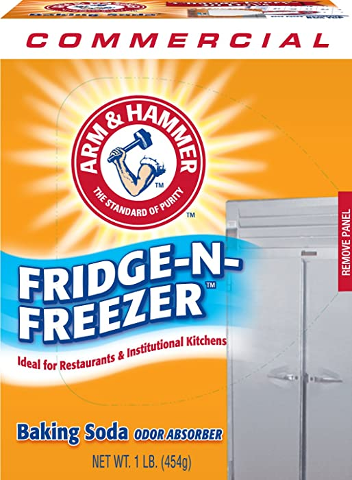 Arm & Hammer 3320084011CT Fridge-N-Freezer Pack Baking Soda, Unscented, Powder, 16 Oz (Case of 12)