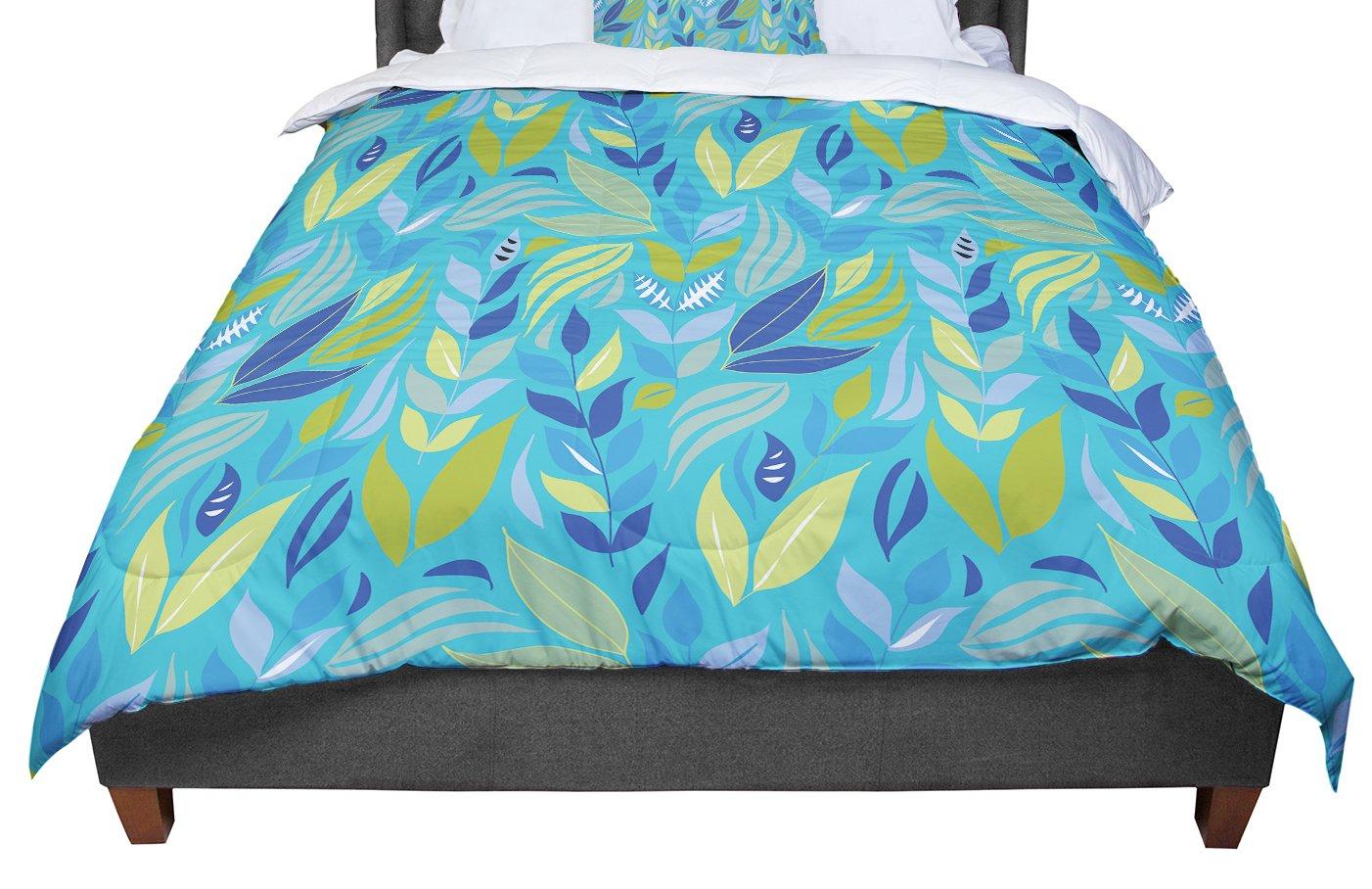 88 X 88 KESS InHouse Michelle Drew Underwater Bouquet Queen Comforter