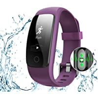 NickSea Bracelet Sport Activité Montre Connectée Avec GPS, Etanche IP67 Fitness Tracker d'Activité Bluetooth avec Cardiofréquencemètres, Podomètre, Distance, Calorie, Notification Appel & SMS - Noir