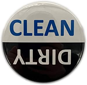 """Dishwasher Magnet Dirty or Clean (2 1/4"""") Premium Made in USA Flip Magnet Dish Washer Chores Ends Common Problems Save Time Waterproof and Durable Non Scratch Two Easy to See"""