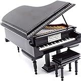 ピアノオルゴール、ベンチ、ブラックケース、ミュージカルボックス、ギフトクリスマス/誕生日/バレンタインデー、メロディー・イン・ザ・スカイ