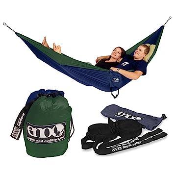 eno double nest hammock with slap straps pro  navy   forest green  eno double nest hammock with slap straps pro  navy   forest green      rh   amazon co uk