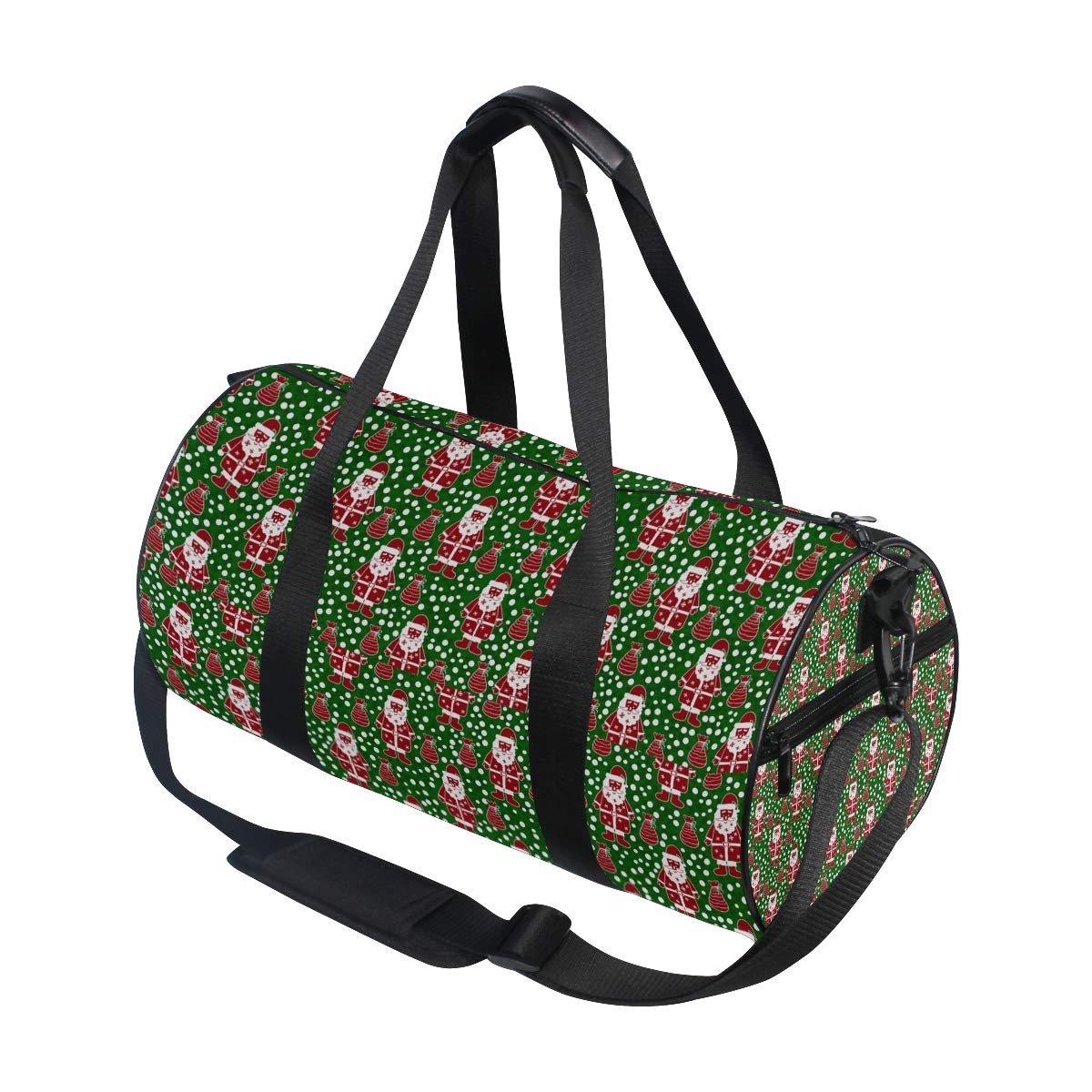 Santa Claus In The Green Area Popular casual fitness bag,Non-Slip Wearable Crossbody Bag Waterproof Shoulder Bag.