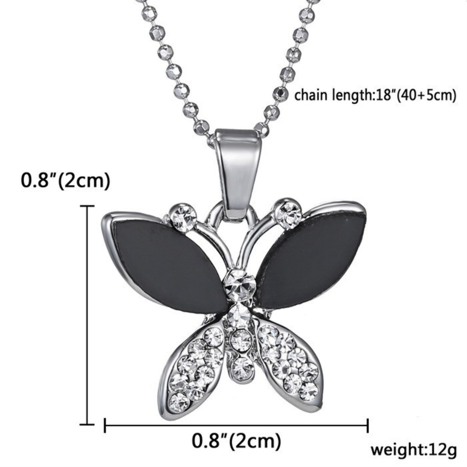 ptk12 Top Quality Rhinestone Crystal Pendant Necklaces New Butterfly Necklace Classic Animal Long