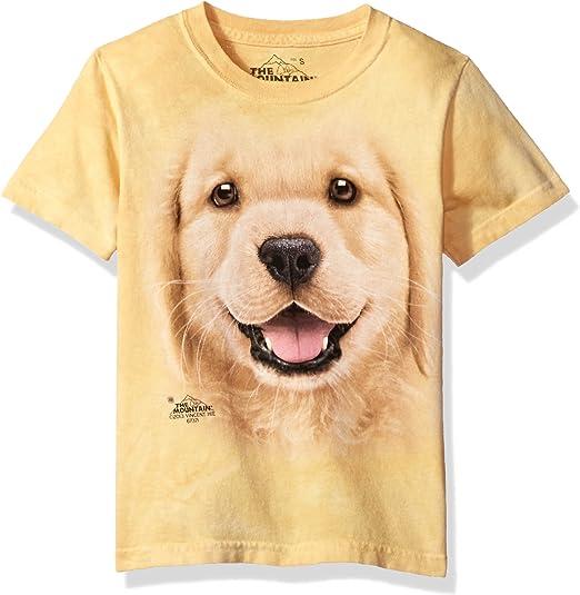 Boy Girl Child Sizes NEW Golden Retreiver Puppy Kids T-Shirt from The Mountain