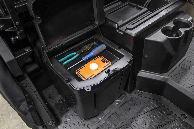 UTV Under Seat Box Dual Bin Storage Box Waterproof Dry Box Compatible with 2018-2021 Polaris Ranger XP 1000 //Crew Replacement for #2882910