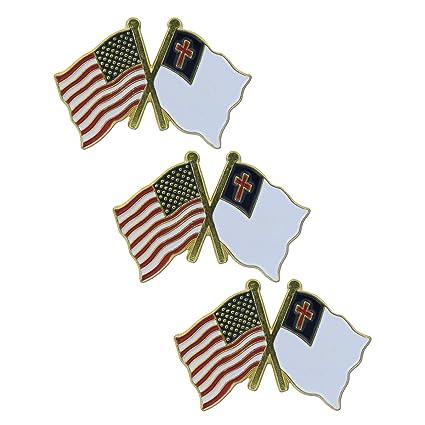 Exceptional USA Flag And Christian Flag Lapel Pin (3 PK)