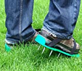 Green Garden Lawn Aerator Long Spike Spiked Shoes
