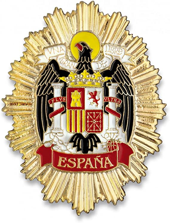 Outletdelocio. Placa Metalica Escudo Aguila de España. Especial para Cartera de Bolsillo: Amazon.es: Equipaje