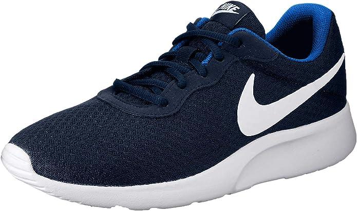 Nike Tanjun Sneakers Laufschuhe Herren Dunkelblau mit weißen Streifen