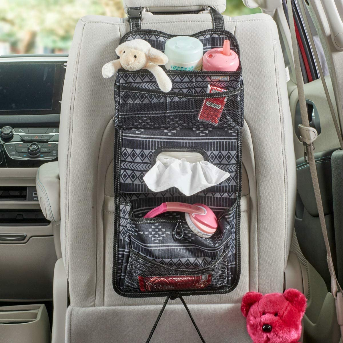 TALU2 High Road Carganizer Car Console Organizer with Cover Talus