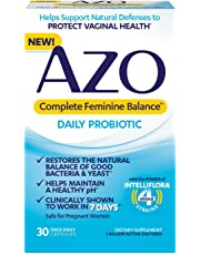 AZO Complete Feminine Balance Women's Daily Probiotic | Clinically Proven to Help Protect Vaginal Health | Clinically Shown to Work in 7 Days* | 30 Count