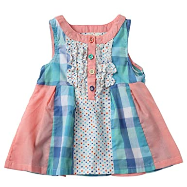 90817b5c4 Amazon.com  Sharequeen mixture Design Button Sleeveless Cotton Girls ...