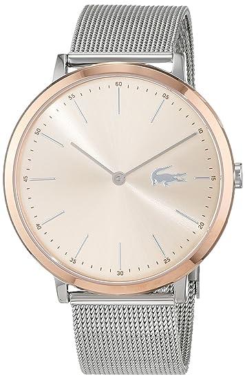 Lacoste Reloj Análogo clásico para Mujer de Cuarzo con Correa en Acero Inoxidable 2001002