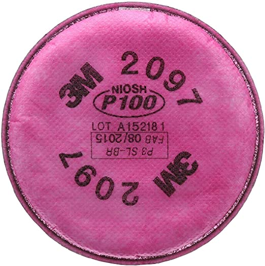 3M 2097 P100 Particulate Filter with Organic Vapor Relief 1 Pair Free Shipping