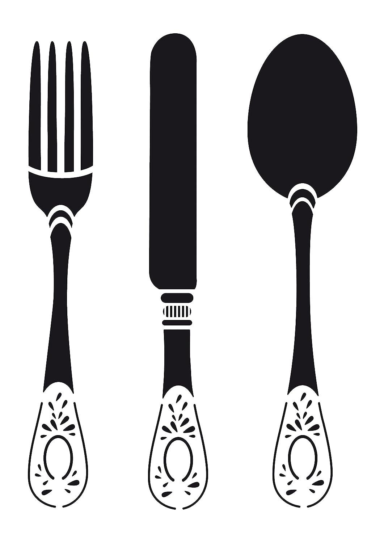 Artemio A4 Cutlery Stencil 15050016