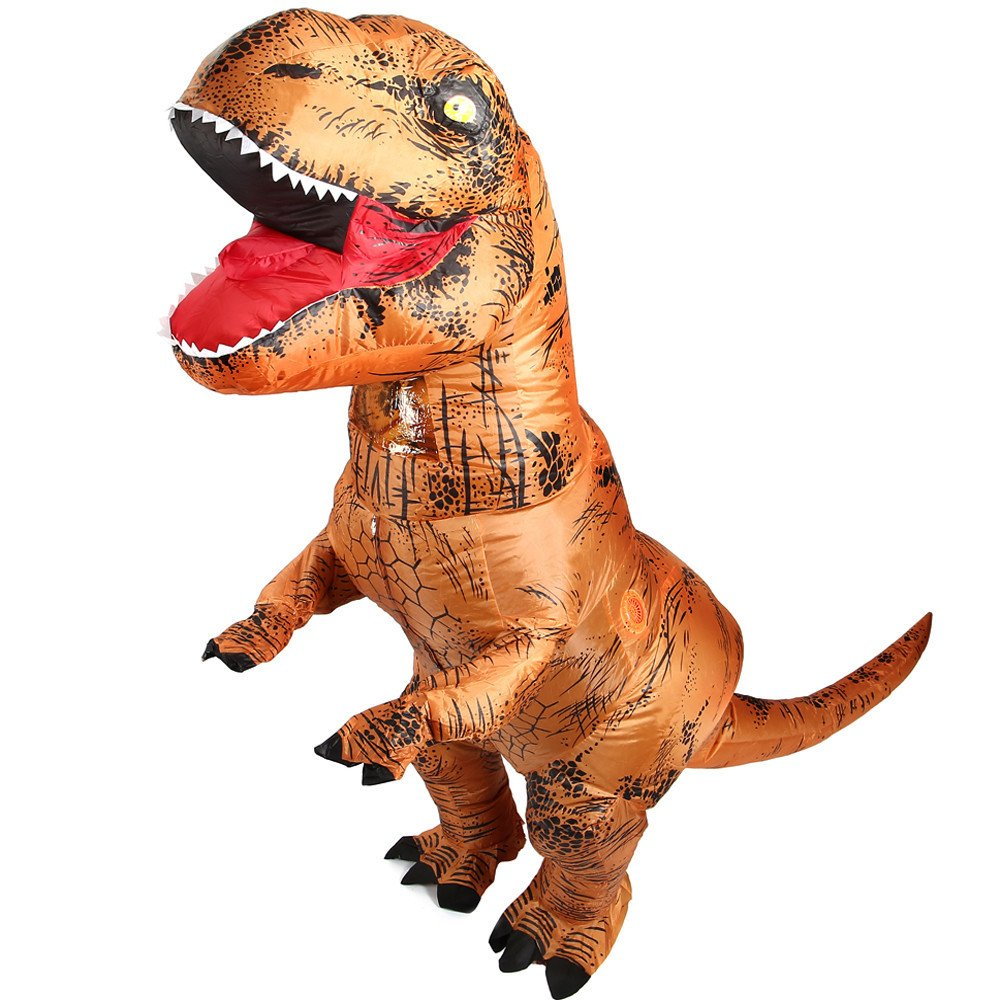 Trex Costume for Adult Inflatable T-rex Dinosaur Cosplay Suit Party Dress