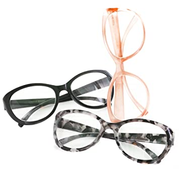 Amazon Com Cynthia Bailey Peach Black Marble Reading Glasses 3 Pack