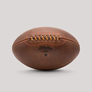 product image for Leatherhead Sports Vintage Leather Rugby Ball – Designed to look nostalgic, this No.5 ball is hand made from the finest leathers for beauty and durability by Master Craftsmen in Glen Rock, New Jersey.