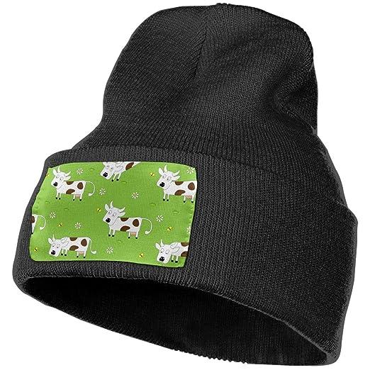Amazon.com  Cow Animal Winter Beanie Hat Soft   Warm Chunky Skull ... 708a9a98c28