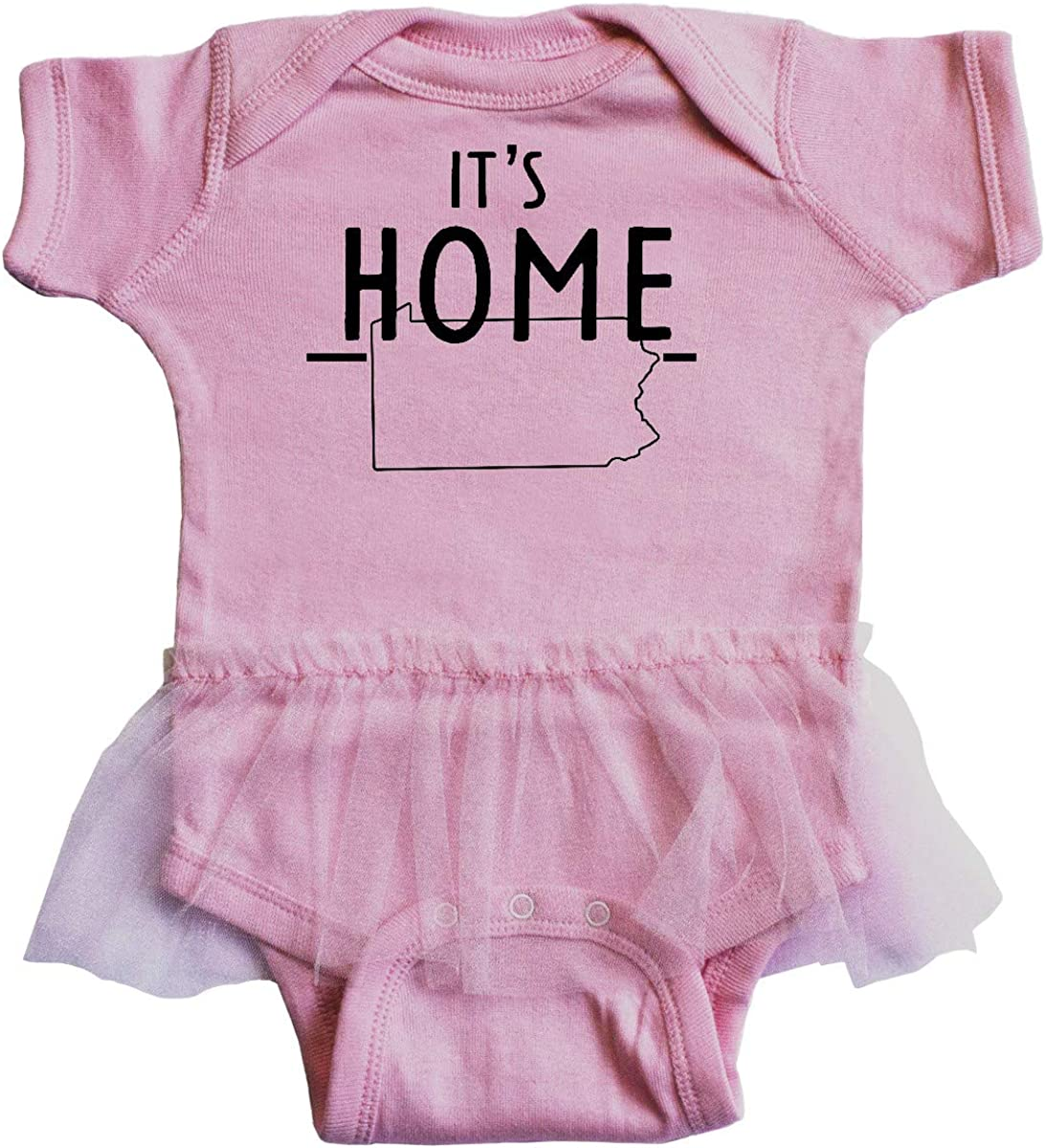 inktastic Its Home State of Pennsylvania Outline Infant Tutu Bodysuit