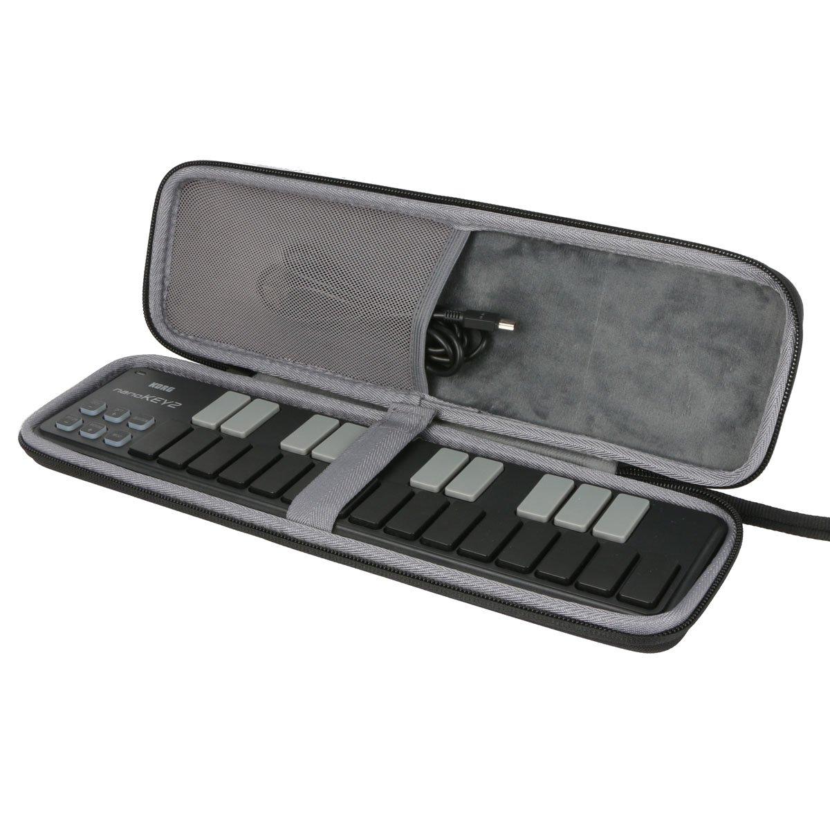 co2CREA Hard Travel Case for nanoKEY2 / nanoPAD2 / nanoKONTROL2 Slimline USB MIDI Controller Keyboard(Case only)